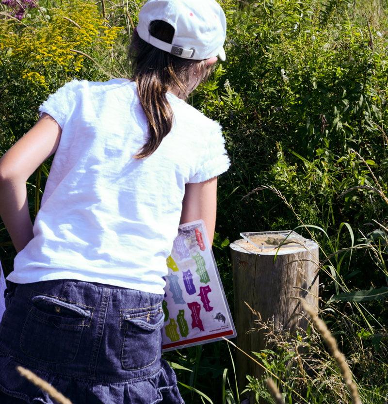 Photo d'une fille qui fait une aventure a Eco-Odyssée