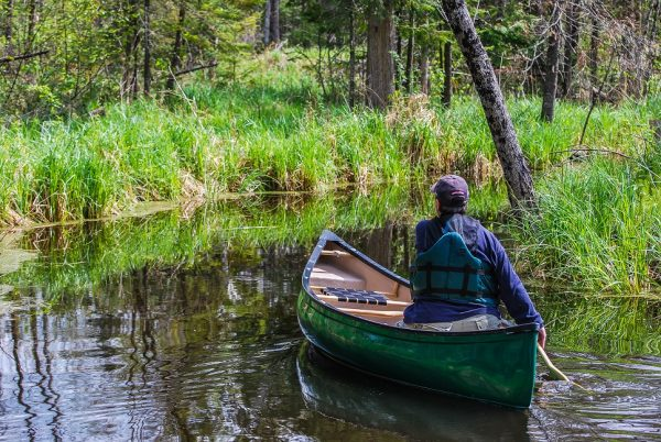 Eco-odyssée, Wakefield, labyrinthe d'eau, canot